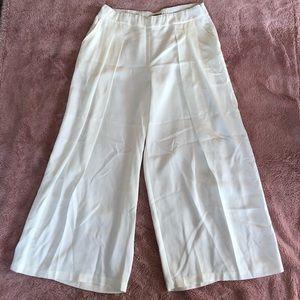 Eileen Fisher Sz L wide leg slight off white pants